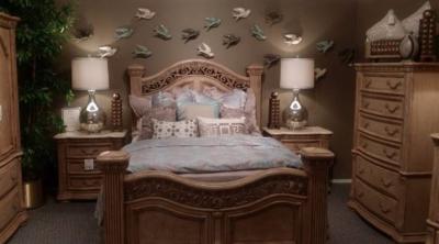 Our new bedroom set on  display floor