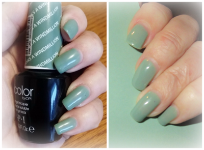 Thanks a Windmillion nail Polish and Mint Macaron card stock