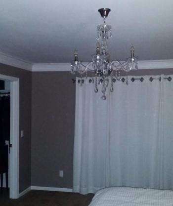 New Chandalier in master bedroom