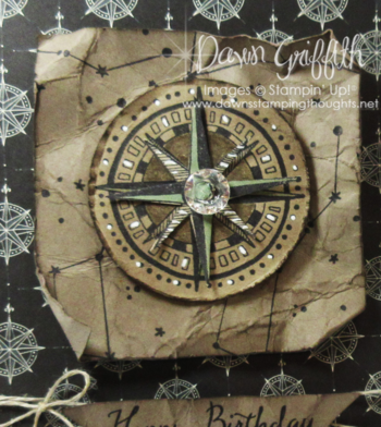 Happy Birthday Going Global compass upclose Dawn Griffith Stampin'Up! 2016