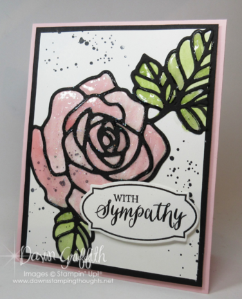 #1 Rose Wonder card with Crystal Effects by Dawn Griffith Stampin'Up!