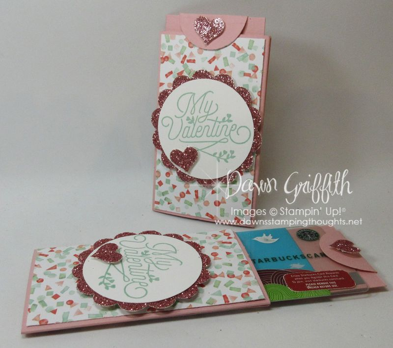 Valentine Gift Card Holder by Dawn Griffith Stampin'Up!