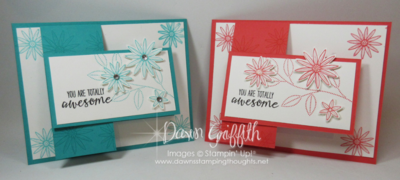 Grateful Bunch stamp set  Watermelon Wonder Bermuda Bay Flap cards Dawn Griffith Stampin'Up!