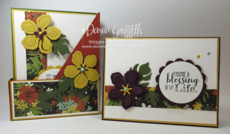 Mini Magazine Holder for stampers club hostess  Dawn Griffith Botanical  Builder framelits Stampin' Up! Occasions catalog 2016