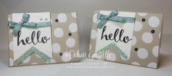 Hello Peek a boo hidden message card Dawn Griffith Stampin'Up! Demonstrator Sale-a-Bration  2016