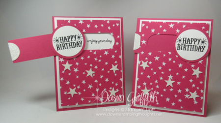 Slider Birthday card Stampin'Up! Occasions catalog Dawn Griffith