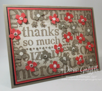 Thanks so much #2 by Dawn Griffith Stampin'Up! Demonstrator #1