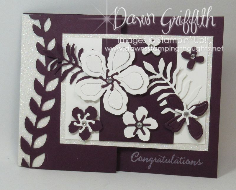 Congratulations Botanical Builder framelits #1 Dawn Griffith Stampin'Up! Occasions catalog 2016