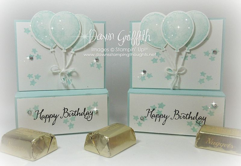 #1 Hershey Chocolate nugget holders front view by Dawn Griffith Stampin'Up! demonstrator  check out  my blog for the video on how to make these sweet holders