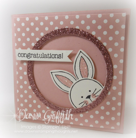 #1 Baby corner pop up card by Dawn Griffith Stampin'Up! Demonstrator More details on my blog