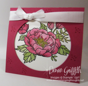 Birthday Blooms Wink of Stella coloring Dawn Griffith Stampin'Up! Demonstrator Check out the video posted on my blog today .