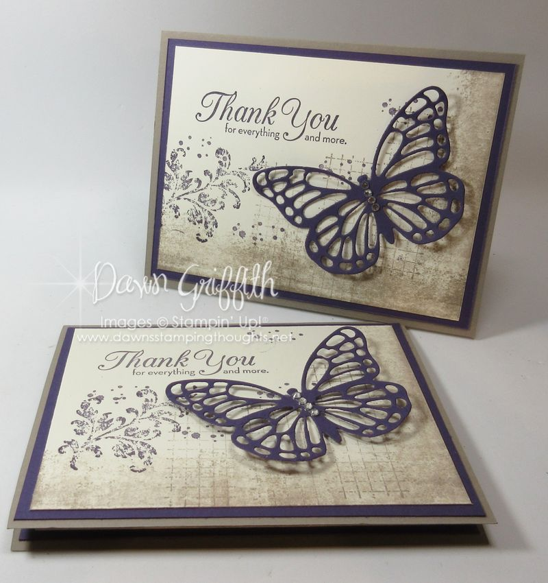 Thank you card Make & Take for club night Dawn Griffith Stampin'Up! demonstrator video posted on my blog