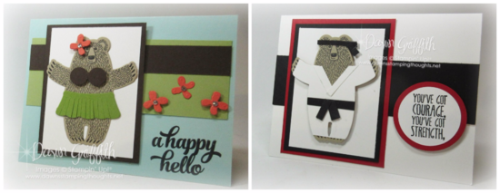 ICYMI Bear Hugs cards Karate and Hula bear Dawn Griffith Stampin'Up! demonstrator