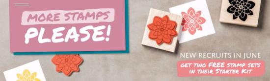 More stamps in starter kit June  2016