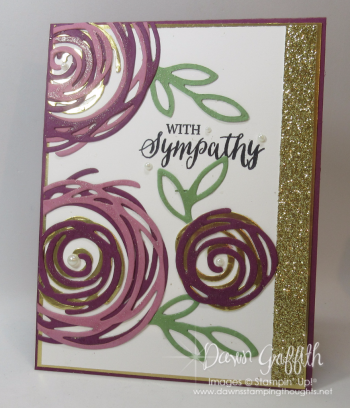 With Sympathy Swirly Scribbles  front Dawn Griffith Stampin'Up! Demonstrator