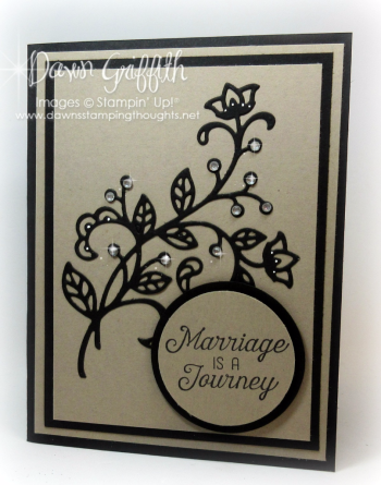 #1 Marriage is a Journey Dawn Griffith Stampin Up demonstrator .