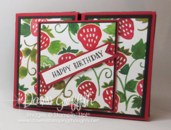 Split top gift box front  strawberry Fruit Stand DSP Dawn Griffith