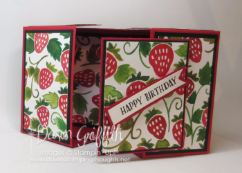 Split top gift box inside  strawberry Fruit Stand DSP Dawn Griffith