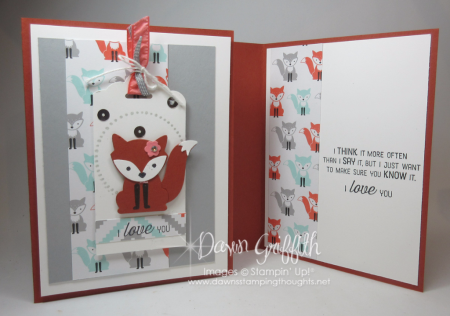 Foxy cards for Mom and Jessie inside  Dawn Griffith Stampin up Demonstrator