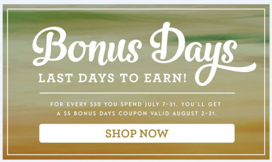 Last Day for Bonus Days  click HERE to shop now