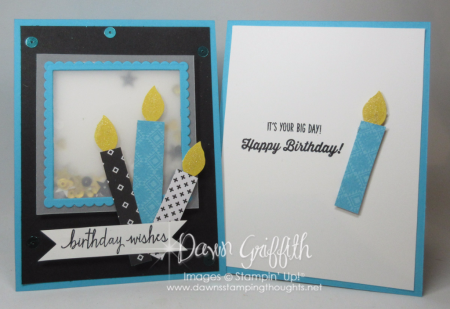 Birthday Wishes Tempting Turquoise Candle card by Dawn Griffith
