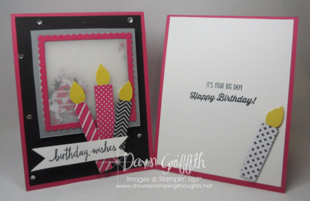 Birthday Wishes Melon Mambo Candle card by Dawn Griffith