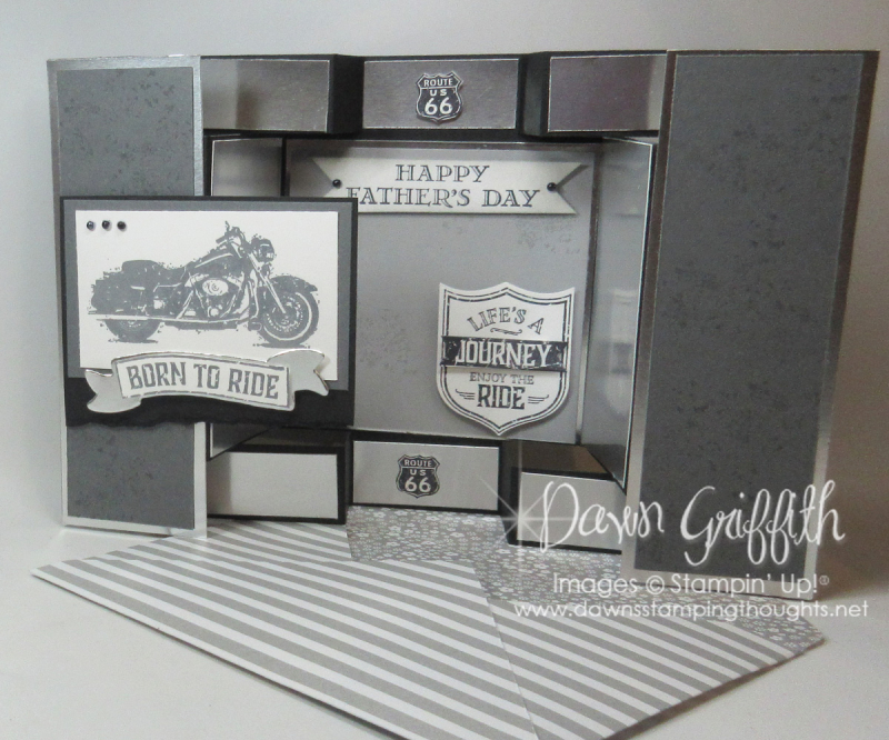 One Wild Ride Large Sq display card with  envelope  Dawn Griffith