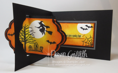 Spooky Fun Halloween  Lots of Labels  Z fold card Dawn Griffith 2