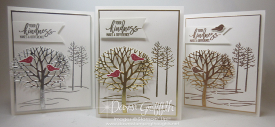 Thoughtful Branches Gold Silver Bronze Dawn Griffith Stampin Up