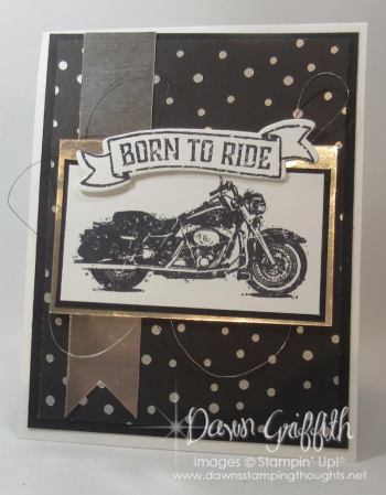 Born to ride Front of  Birthday card for Father in Law Dawm Griffith