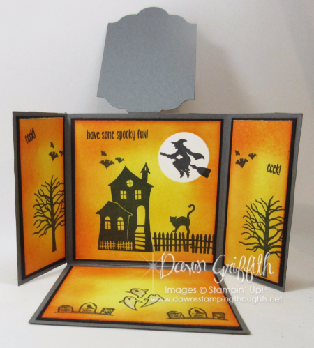 Triple Flap Fold Halloween card  insdie #2 Dawn Griffith