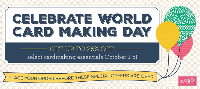 Celebrate WORLD Card making day  Oct 1- Oct 5 2016 Dawn Griffith