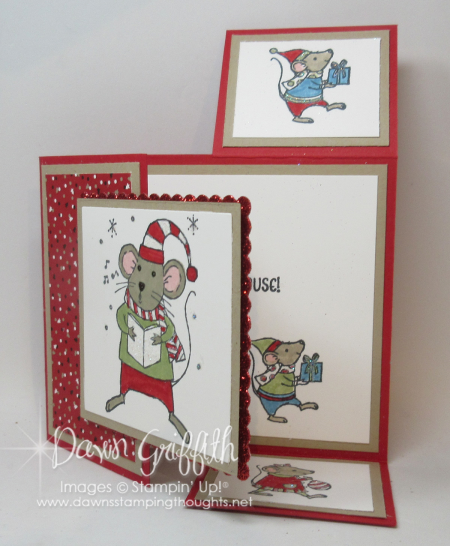 Dutch Fold Merry Mice card Dawn Griffith