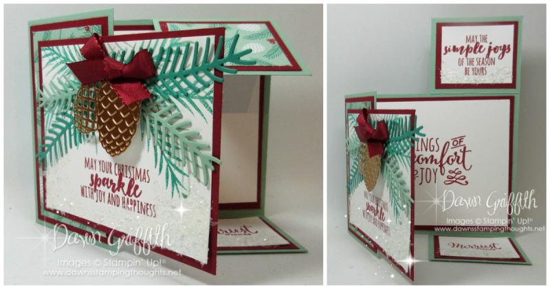 #1 Dutch Fold Christmas card Dawn Griffith