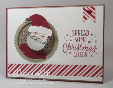 Christmas Cheer Action Wobble Santa card Dawn Griffith