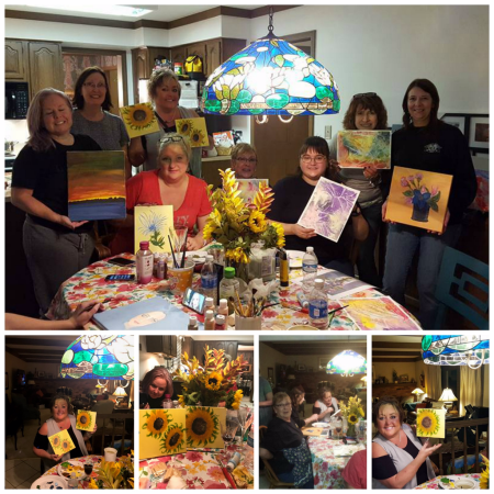 Painting night with the Ladies of Harley