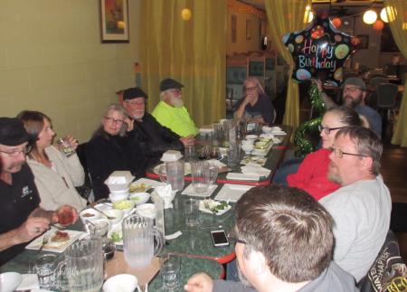 Birthday boy and  dinner with HOG friends