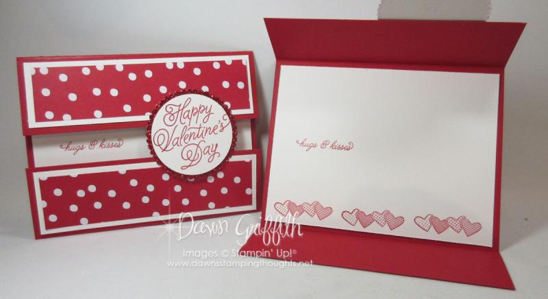Valentines Day Peek a boo gate fold card Dawn Griffith