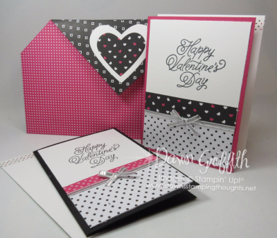 Pop of Pink Note cards and Clutch Dawn Griffith Stampin up
