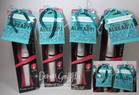 WAHOO Open me already GQ challenge prizes with SAB glimmer paper Dawn Griffith