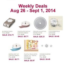 Weekly Deals until Sept 1st