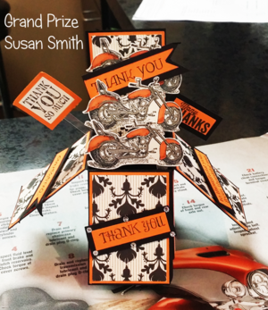 Grand Prize Hoka Hey card challenge Susan Smith fom FL