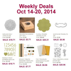 Weekly Deals until Oct 20th