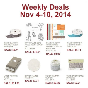 Weekly Deals Until November 10, 2014
