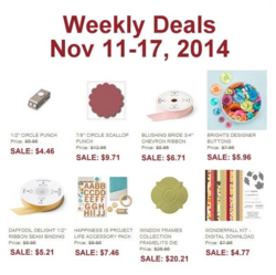 Weekly Deals until Nov 17, 2014