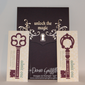 Unlock the Magic invite from Stampin Up!