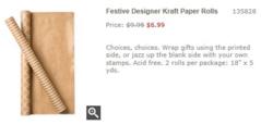 Festive  Designer Kraft wrapping paper