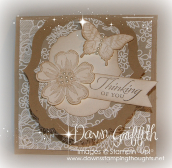 Thinking of you card for Pam & Andrew front #1