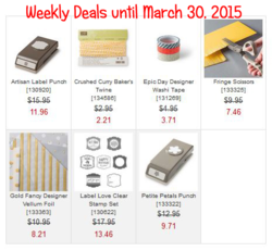 Weekly Deals until March 30, 2015 box