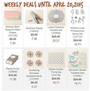 Weekly Deals until April 20, 2015